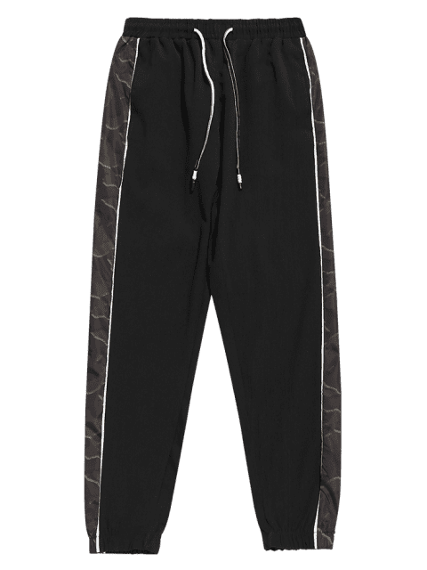 shops Camo Panel Jogger Pants - BLACK 2XL Mobile
