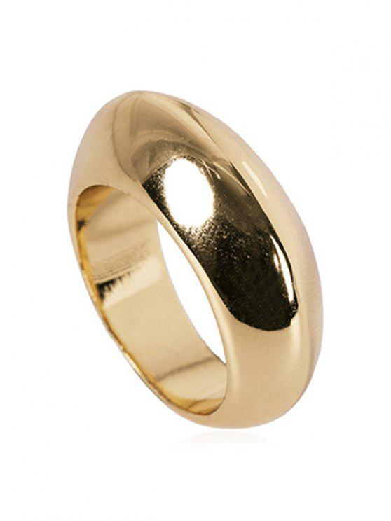 ladies Simple Round Shape Hollow Ring - GOLD