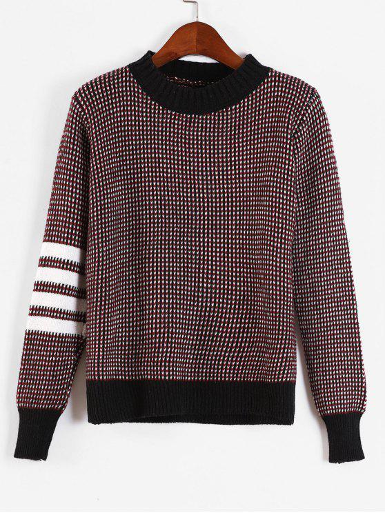Gestreifter Pullover mit Streifenmuster - Multi Eine Größe