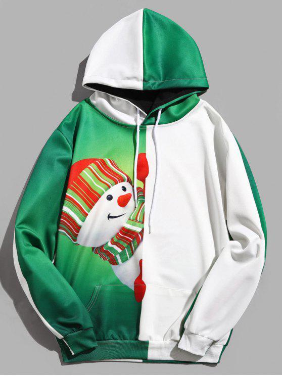 Bonhomme de neige contrat contrat couleur pull à capuche - Vert profond L