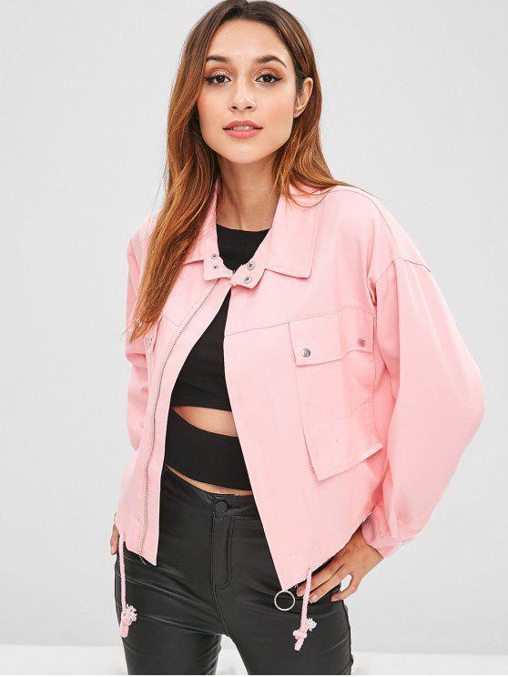 Faim Pockets chaqueta de mezclilla - Rosado Talla única
