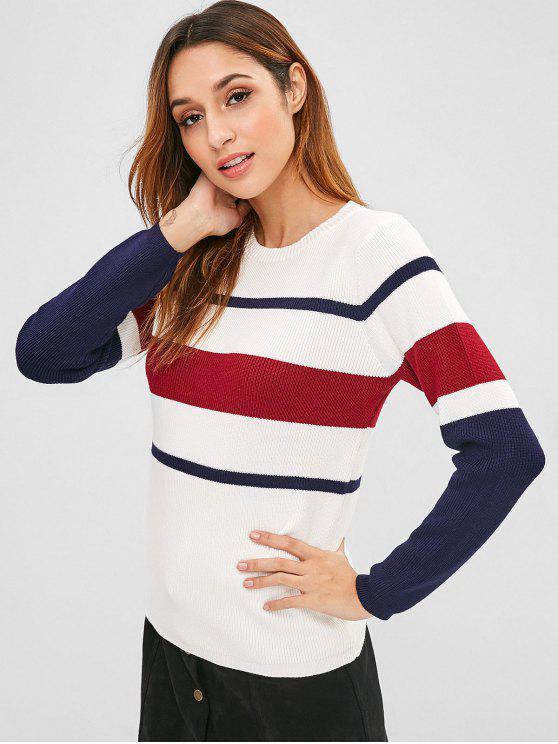 5f3d783f2214 35% OFF  2019 Multicolored Striped Knit Sweater In MULTI