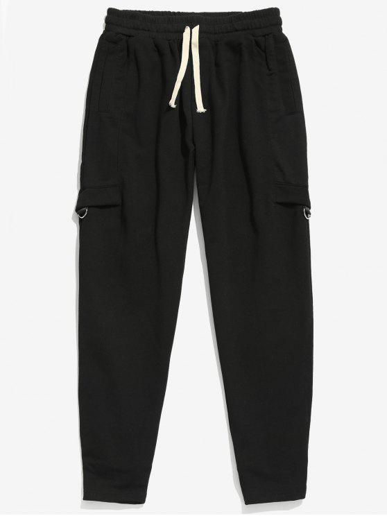 Pantaloni Da Jogging Con Tasche - Nero XL