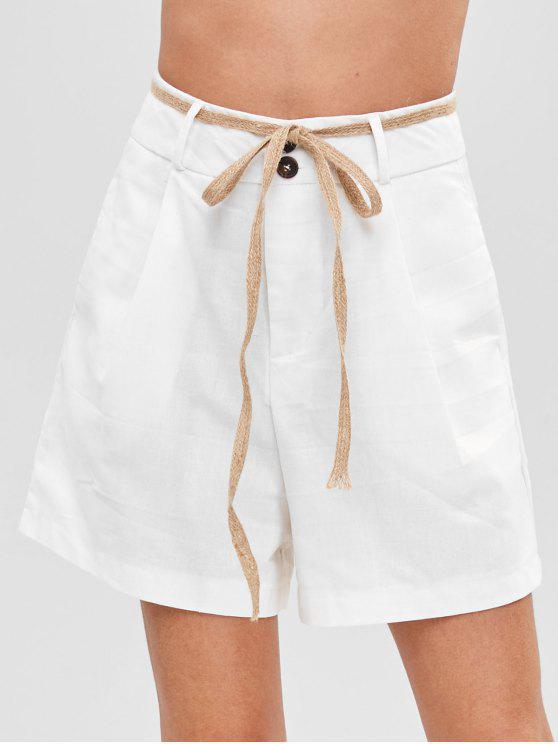 Pantaloncini A Vita Alta - Bianca Latte M