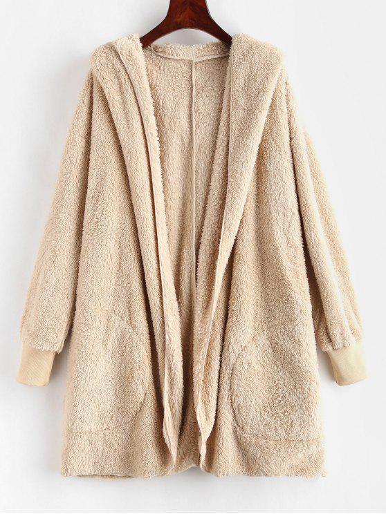 ZAFUL Abrigo de cola larga de imitación de piel de oveja - Champán M