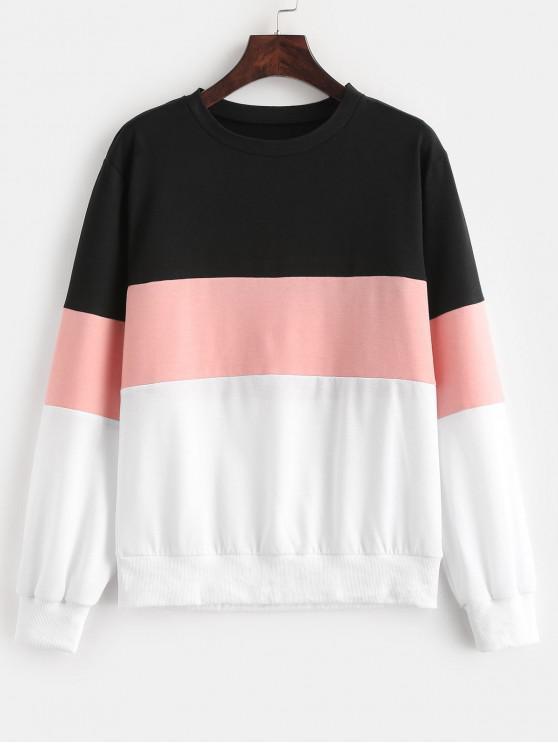 ZAFUL - Sweatshirt mit weitem Streifenmuster und Farbblock - Multi S