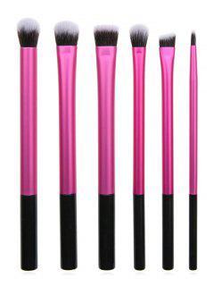Cosmetic 6Pcs Ultra Soft Fiber Hair Eyeshadow Blending Eye Makeup Brush Set - Rose Red Regular