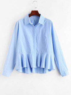 Chemise à Volants - Bleu Léger  L