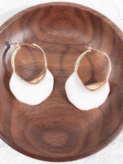 Geometric Hollow Out Design Metal Earrings - White