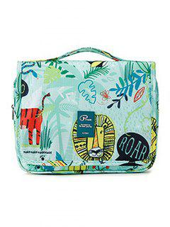 Portable Fresh Plant Large Capacity Toiletry Bag - Pale Blue Lily