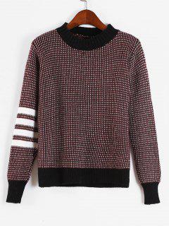 Stripes Panel Heathered Sweater - Multi