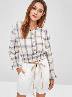 Button-Up-Bluse - Warmweiß S