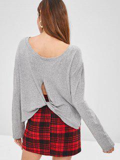 Long Sleeve Twisted Heather T-Shirt - Light Gray S