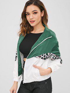 ZAFUL Color Block Loose Leopard Jacket - Multi Xl