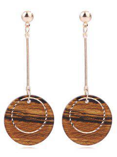 Striped Circle Shape Drop Earrings - Multi-a