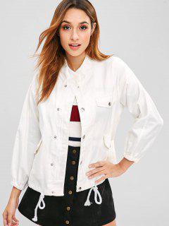 Twill Jacke Mit Zwei Taschen - Weiß