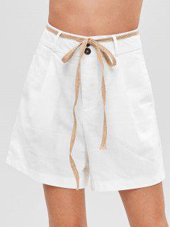 Short Droit à Taille Haute - Blanc Lait M