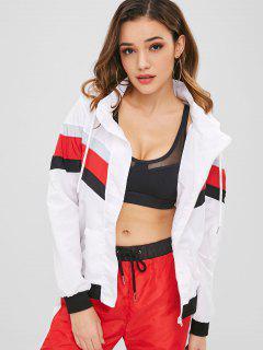 Color Block Hooded Zip Jacket - Multi M