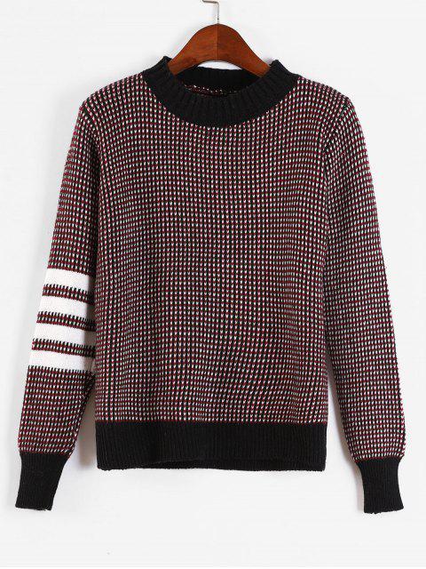 Panel de rayas suéter jaspeado - Multicolor Talla única Mobile
