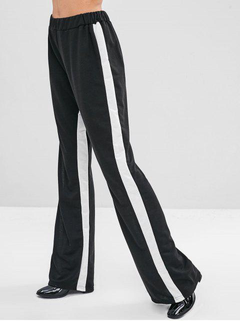 Elastische Taille Zweifarbige Kontrasthose - Schwarz XL Mobile