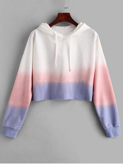 Sudadera con capucha sin dobladillo crudo - Multicolor M Mobile