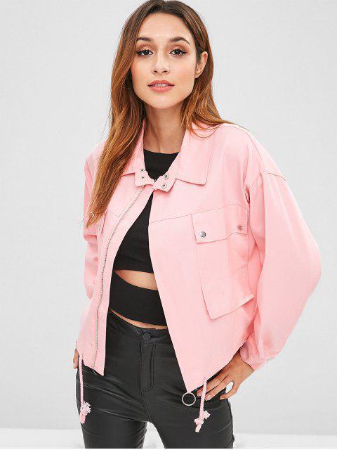 Faim Pockets chaqueta de mezclilla - Rosado Única Talla Mobile