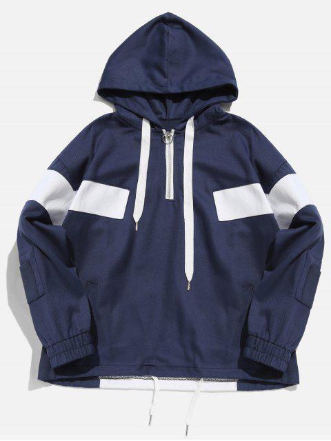 Sweat à capuche avec blocs de couleurs - Bleu Cadette L Mobile