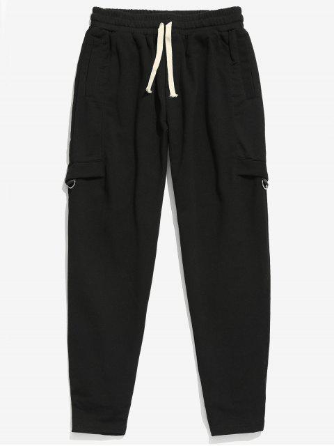 Pantalon de Jogging Patchwork avec Poche Design - Noir XL Mobile