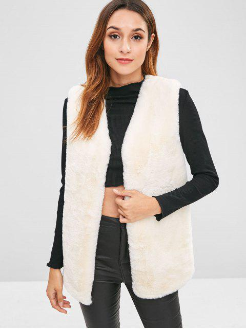 hot Faux Fur Waistcoat - WHITE ONE SIZE Mobile