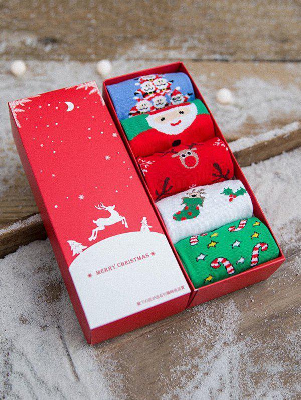 5 Pairs Christmas Theme Winter Warm Socks