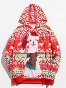 البلوز عيد الميلاد الألبكة مطبوعة هوديي - متعدد M