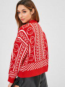 ed8469054a ... Face Graphic Oversized Cardigan  Face Graphic Oversized Cardigan.  outfits Face Graphic Oversized Cardigan - RED ONE SIZE