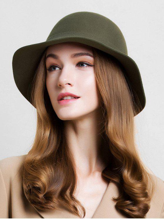 fancy Irregular Striped Cloche Hat - ARMY GREEN