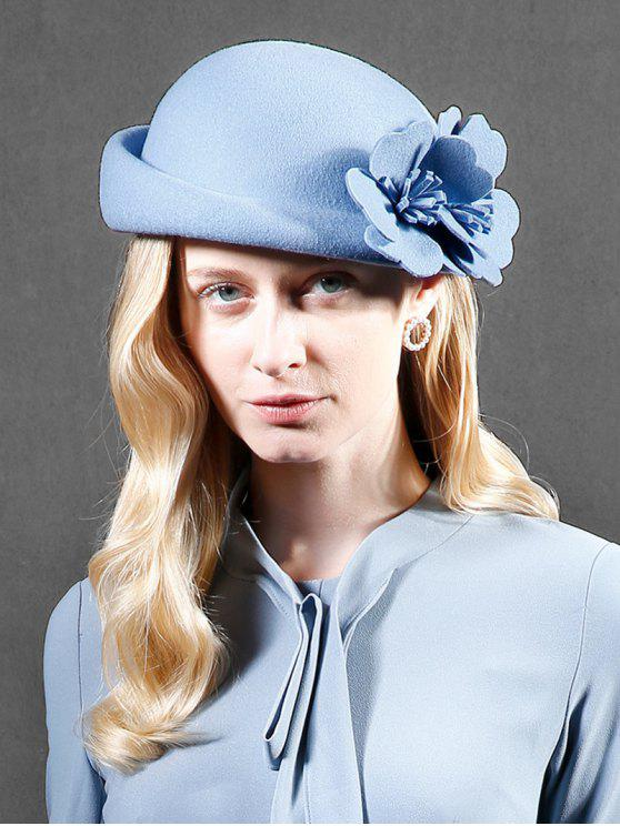 outfits Flourishing Floral Woolen Beret - LIGHT BLUE