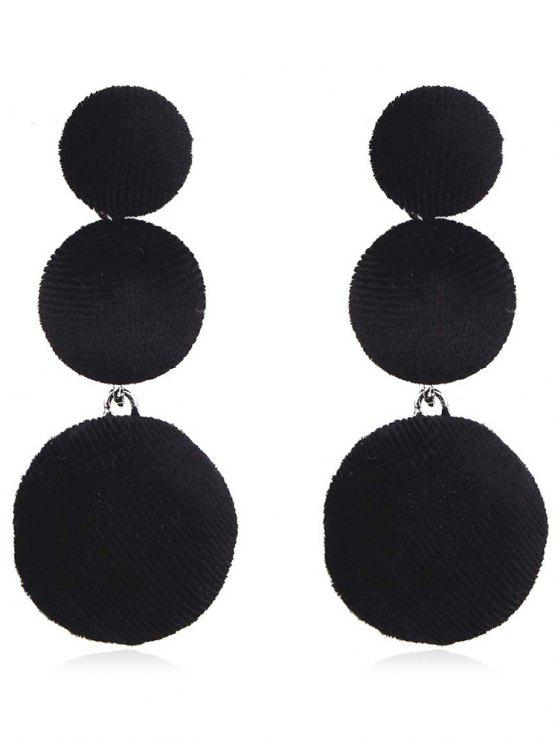 shops Balls Design Long Drop Earrings - BLACK