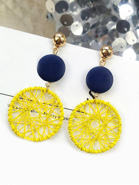 affordable Geometric Design Round Shape Earrings - YELLOW