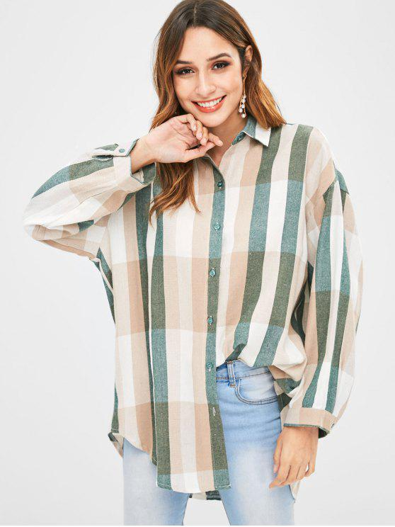 hot Striped Loose High Low Shirt - MULTI ONE SIZE