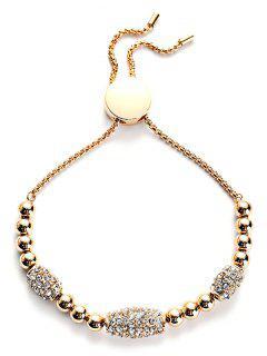 Rhinestone Embellished Alloy Bracelet - Gold