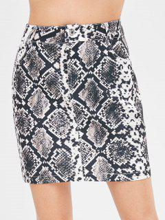 Snake Print Mini Pelmet Skirt - Multi L
