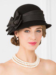 Bowknot Side Bucket Hat - Black
