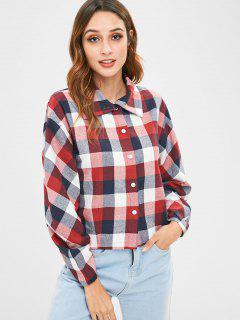 Button Up Kariertes Hemd - Multi L