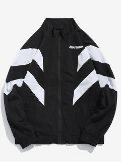 Casual Zippered Sports Wind Jacket - Black L