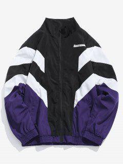 Casual Zippered Sports Wind Jacket - Purple Iris M