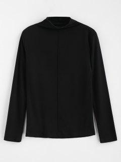 Tee-shirt Uni Col Montant - Noir