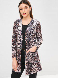 Button Up Leopard Coat - Leopard M