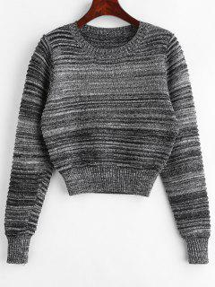 Crew Heather Crop Sweater - Dunkelgrau S