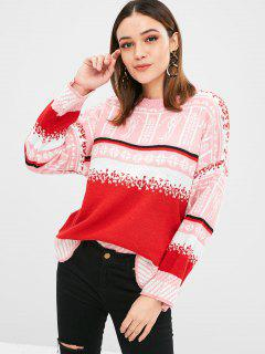 Christmas Graphic Rundhals Pullover - Multi