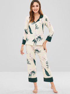 Ensemble De Pyjama Chemise Fleur Et Pantalon - Multi-a Xl