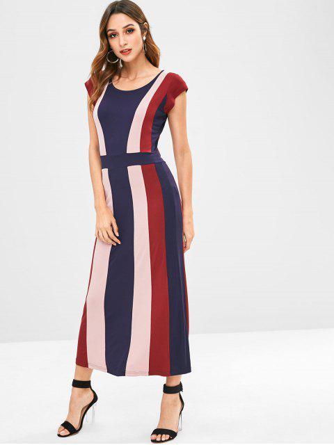 women ZAFUL Stripes Maxi Dress - MULTI M Mobile