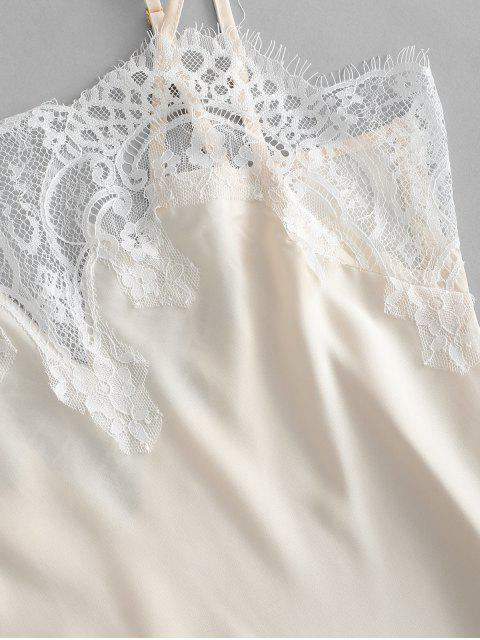 shops Lace Inset Slip Mini Sleep Dress - CHAMPAGNE L Mobile